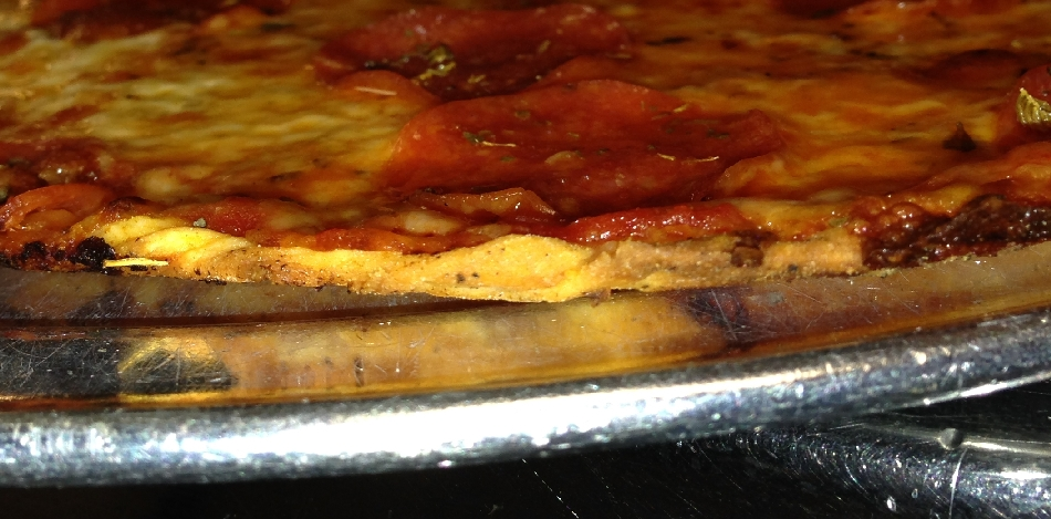 Fricanos Crust Side Picture Pepperoni Pizza Pie