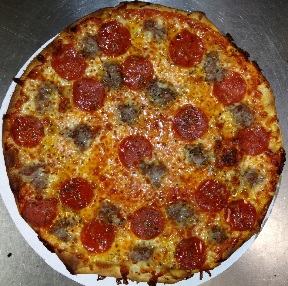 Fricanos Pepperoni, Italian Sausage Pizza Pie