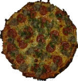 Fricanos Pepperoni, Italian Sausage, Green Pepper Pizza Pie
